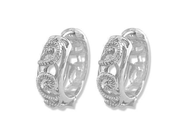 Sterling Silver Hoop Earrings (20 MM)