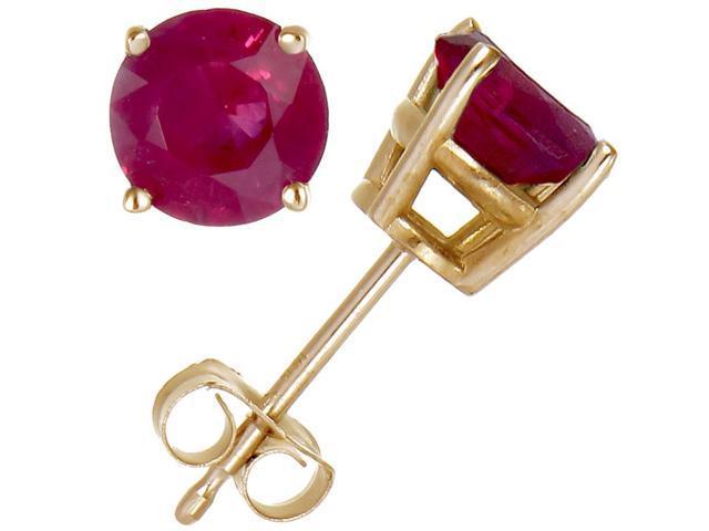 14K Yellow Gold Ruby Stud Earrings (1/2 CT)