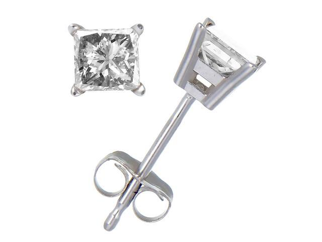 0.15 CT Diamond Stud Earrings 10K White Gold