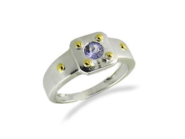 Vir Jewels Sterling Silver Tanzanite Ring (1/4 CT) In Size 6