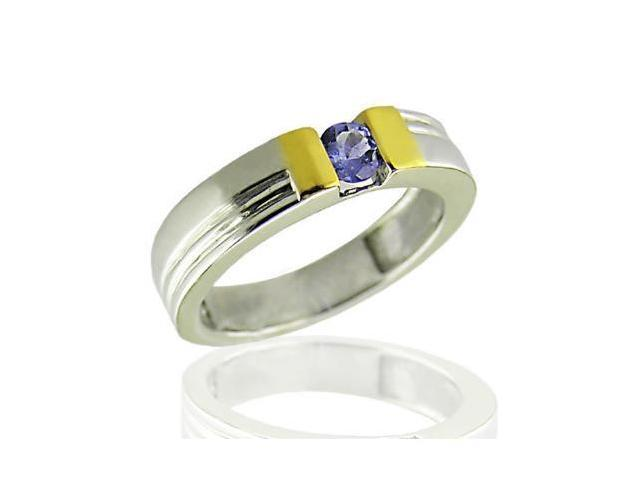 Sterling Silver Tanzanite Ring (1/4 CT) In Size 8