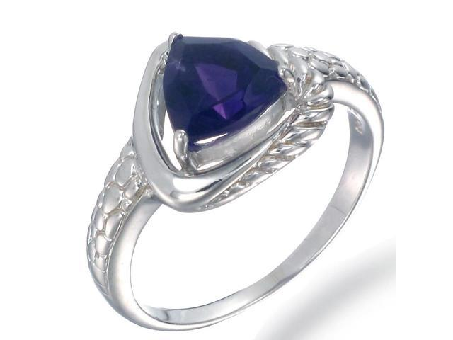 Sterling Silver Amethyst Ring (1 CT) In Size 9