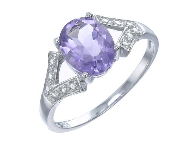 Sterling Silver Amethyst Ring (1.70 CT) In Size 7