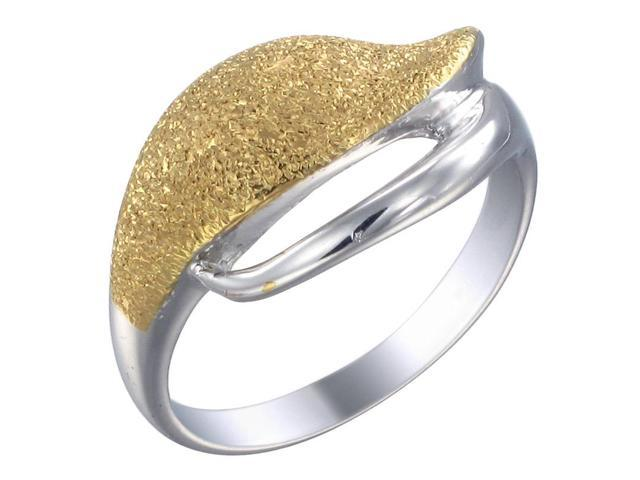 Yellow Gold Plated Sterling Silver Ring In Size 7