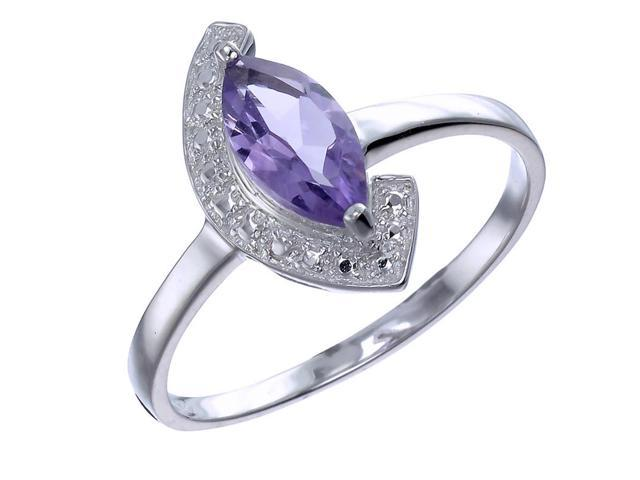 Sterling Silver Amethyst Ring In Size 8