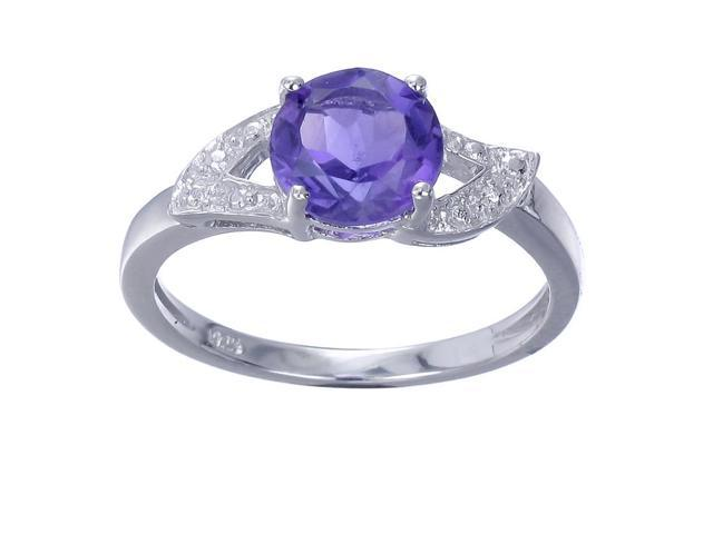 Sterling Silver Amethyst Ring (1.20 CT) In Size 7