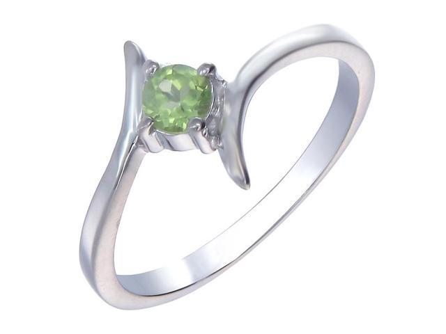 Sterling Silver Peridot Ring (1/4 CT) In Size 9