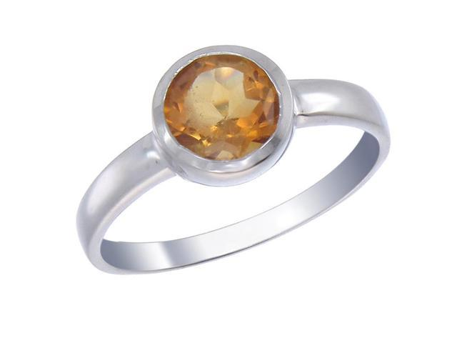 Sterling Silver Citrine Ring (1.20 CT) In Size 8