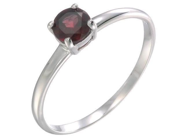 Sterling Silver Garnet Ring (1/2 CT) In Size 7
