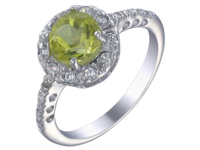 Sterling Silver Lemon Quartz Ring In Size 7