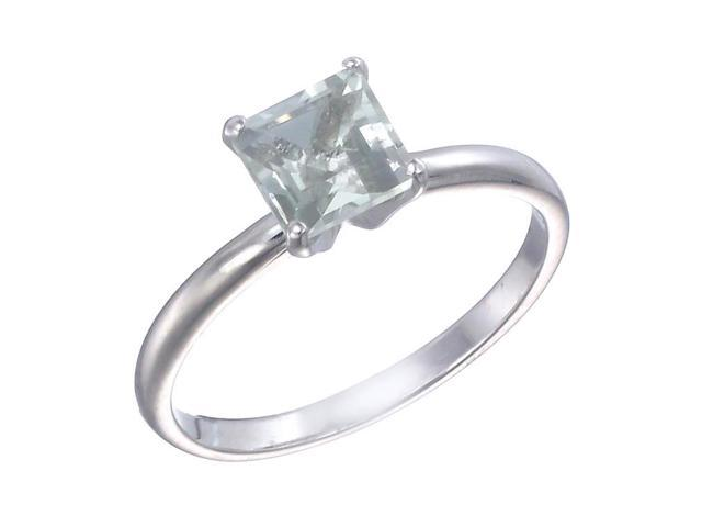 Sterling Silver Green Amethyst Ring (1 CT) In Size 9