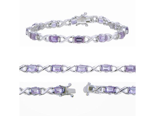 Sterling Silver Amethyst Bracelet (5.55 CT)