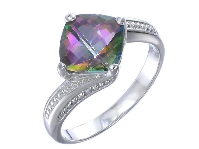 Sterling Silver Mystic Topaz Ring (2 CT) In Size 8