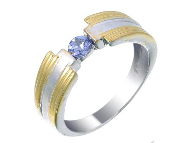 Sterling Silver Tanzanite Ring (1/4 CT) In Size 9