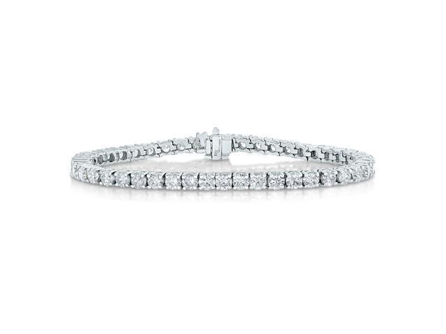 IGI Certified 14K White Gold Diamond Bracelet (3 CT) Tennis