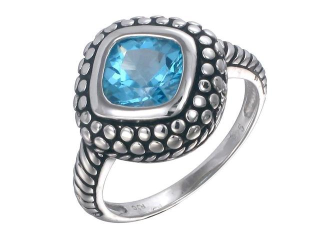 Sterling Silver Swiss Blue Topaz Ring (1.40 CT) In Size 7
