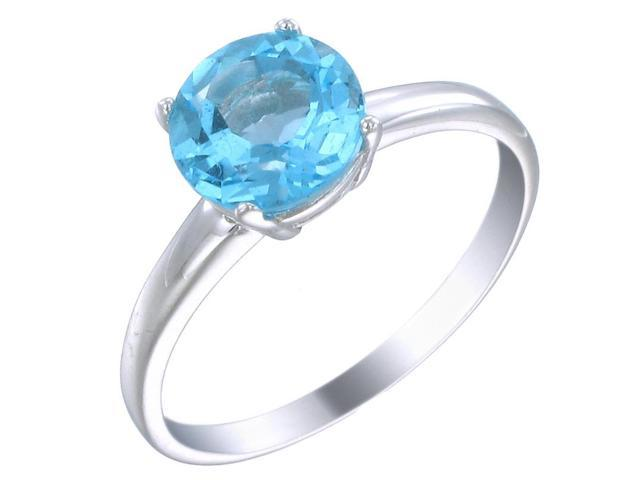 Sterling Silver Swiss Blue Topaz Ring (1.75 CT) In Size 8
