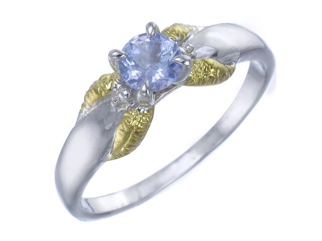 Sterling Silver Tanzanite Ring (1/2 CT) In Size 9