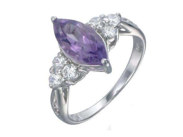 Sterling Silver Amethyst Ring (1.20 CT) In Size 6