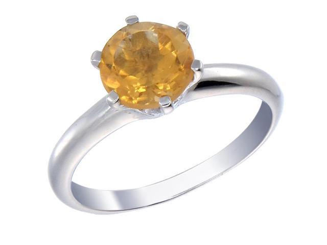 Sterling Silver Citrine Ring (1.75 CT) In Size 9