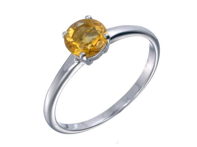 Sterling Silver Citrine Ring (1.20 CT) In Size 9