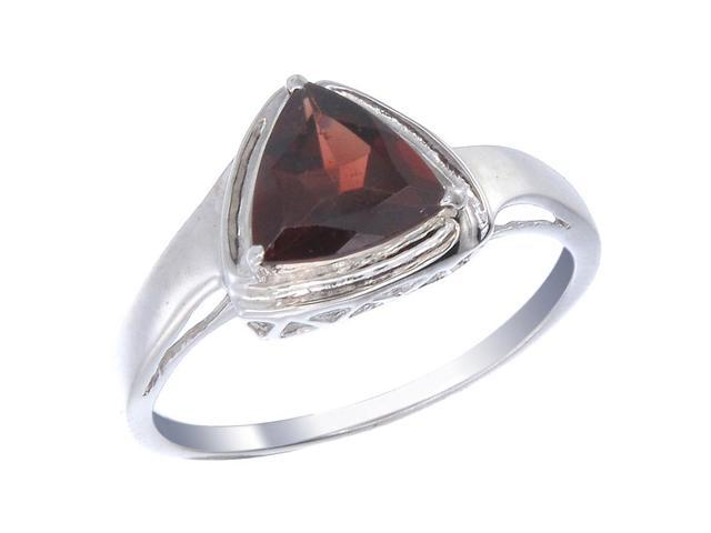 Sterling Silver Garnet Ring (1.50 CT) In Size 9
