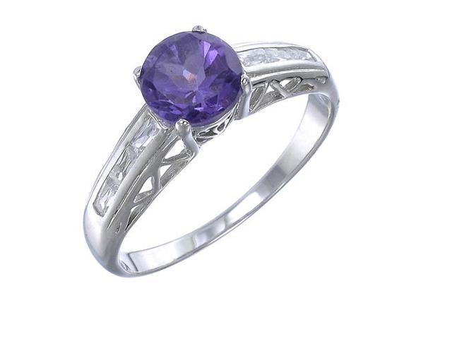 Sterling Silver Amethyst Ring (1.20 CT) In Size 9