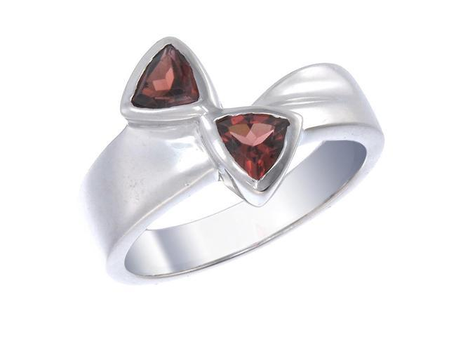 Sterling Silver Garnet Ring In Size 7