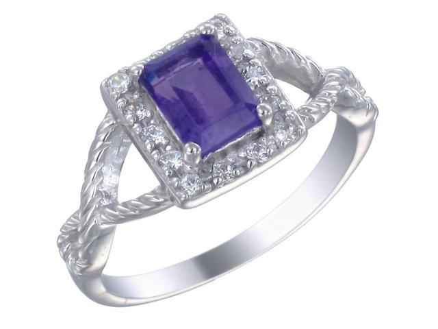 Sterling Silver Amethyst Ring In Size 7