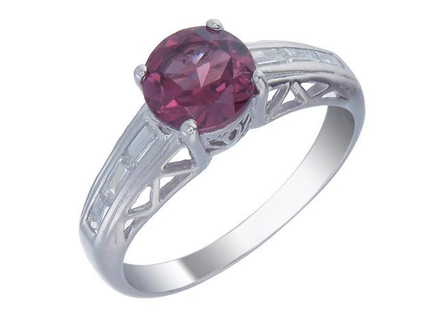 Sterling Silver Garnet Ring (1.20 CT) In Size 5