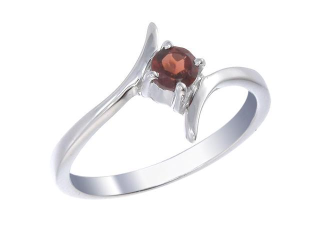 Sterling Silver Garnet Ring (1/4 CT) In Size 7