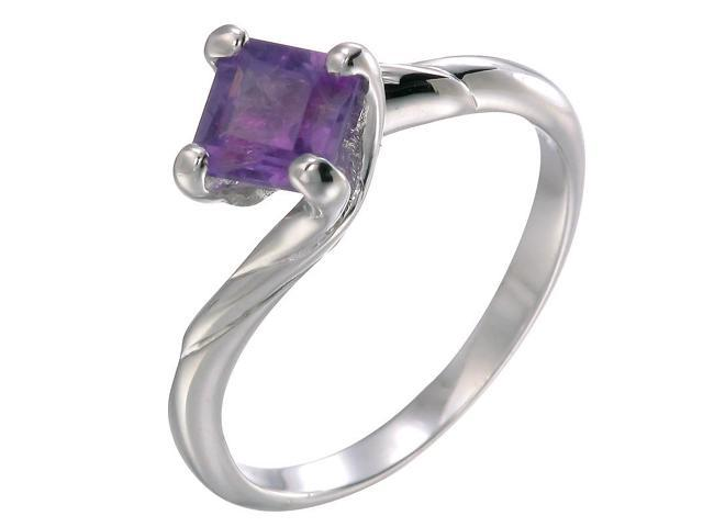 Sterling Silver Amethyst Ring (1 CT) In Size 8