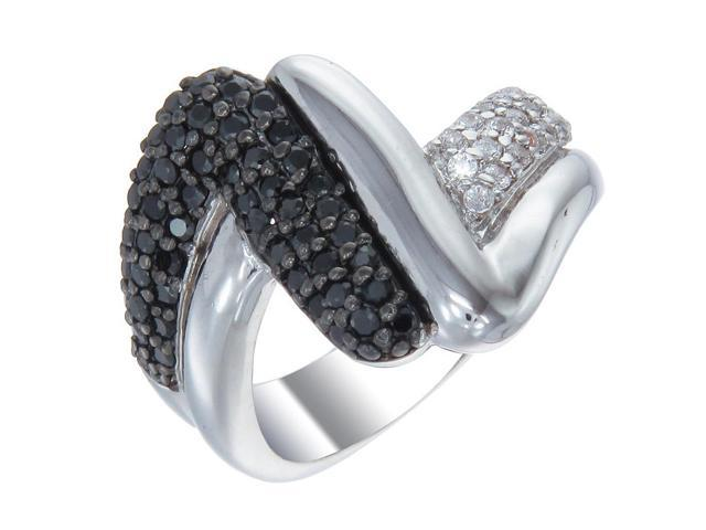 Sterling Silver Black Diamond Ring (1.05 CT) In Size 8