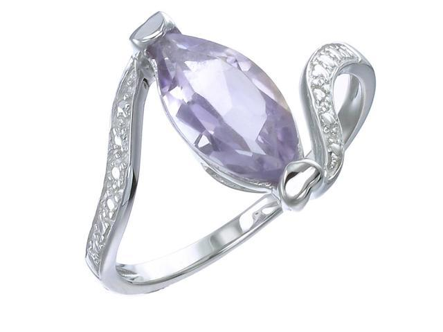 Sterling Silver Amethyst Ring (1.50 CT) In Size 8