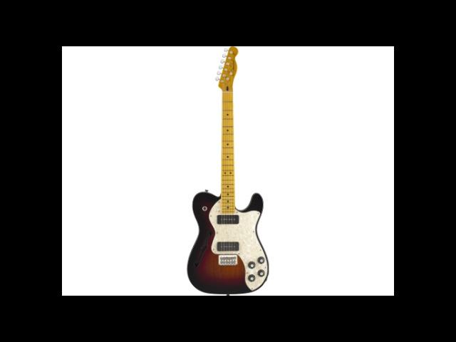 Fender Modern Player Tele Thinline Plus, Maple, 3-Color Sunburst