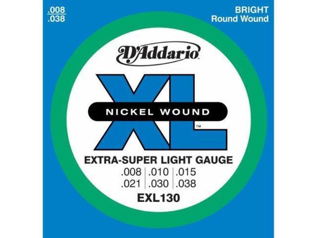 D'Addario EXL130 Electric Guitar Strings - Extra Super Light - 1 Pack