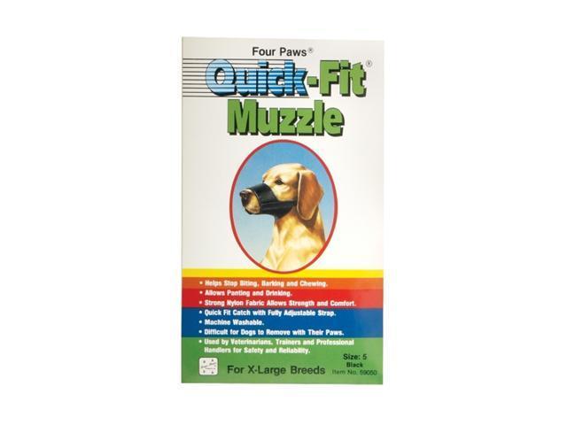 Four Paws Quick-Fit Muzzle Black Size 5