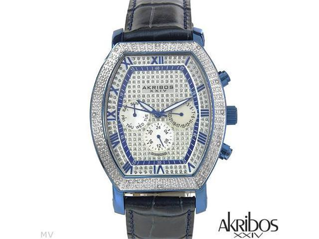 AKRIBOS XXIV Swiss Movement Diamond AK459BU Watch