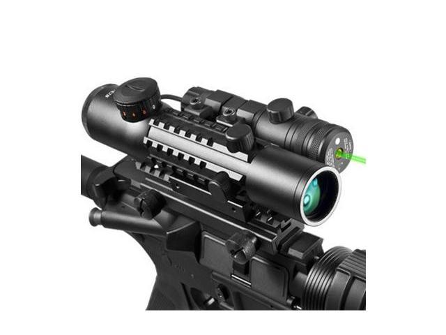 4x28 IR Electro Sight and Green Laser Sight COMBO
