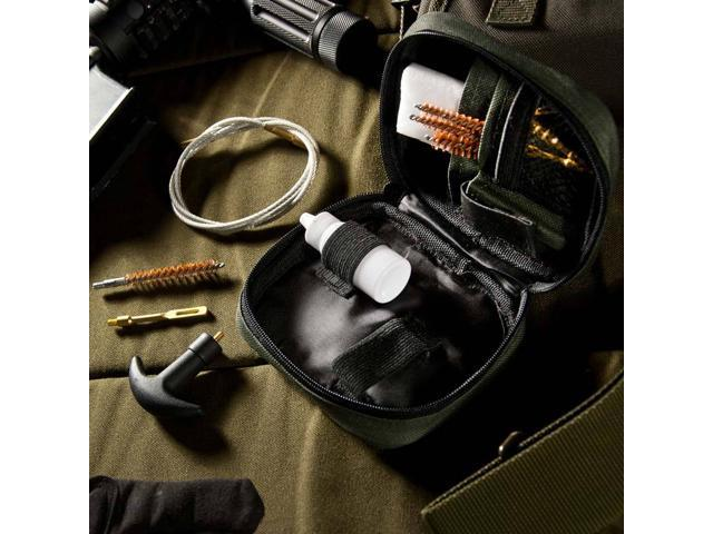 Gun Cleaning Kit with Flexible Rod and Pouch