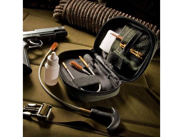 Pistol Cleaning Kit with Flexible Rod and Pouch
