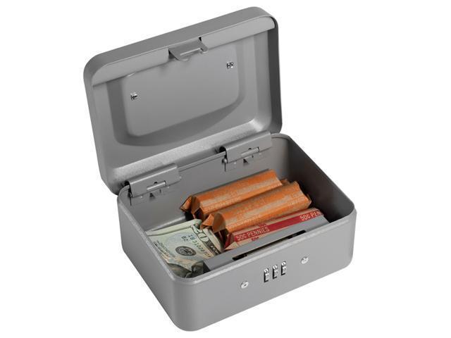 6 Inch Gray Combination Lock Box