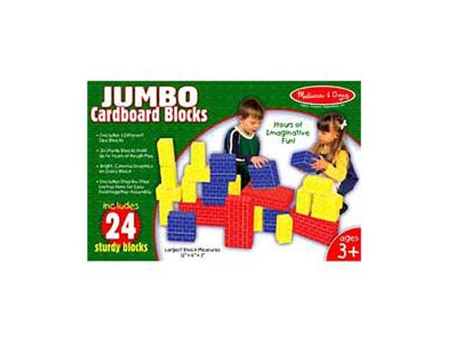 Jumbo Cardboard Basic Blocks - 24 Pcs