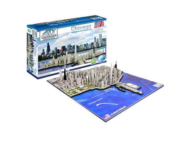 4D Cityscape Puzzle - Chicago