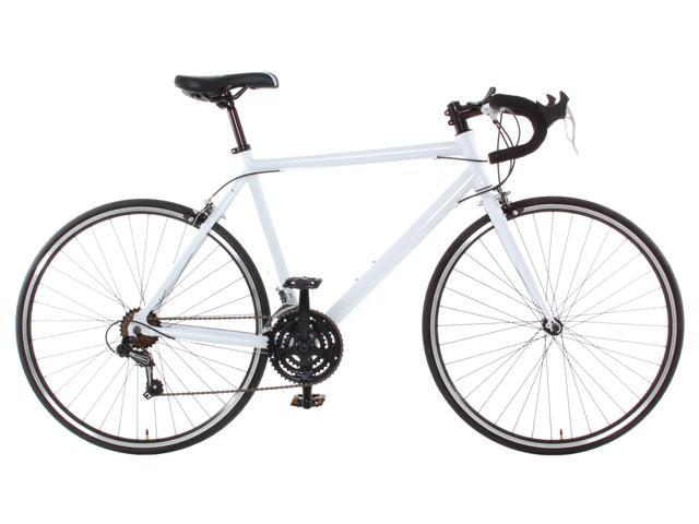 Aluminum Road Bike Commuter Bike Shimano 21 Speed 700c Large (58cm) - White