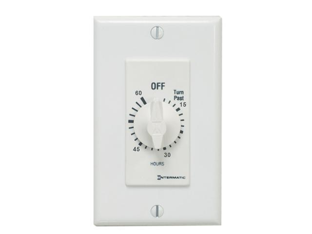 INTERMATIC FD60MWC 60-Minute Spring Loaded Wall Timer, White