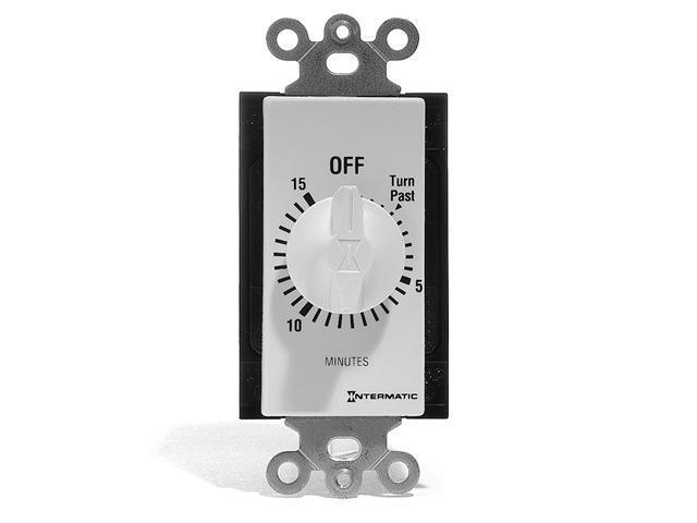 Spring Wound Wall Switch Timer (15 Min) - White