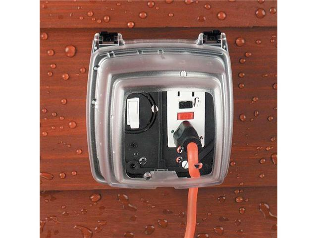 Intermatic WP1230C Guardian Weatherproof Outdoor Two Gang 3-1/8 Inch Receptacle