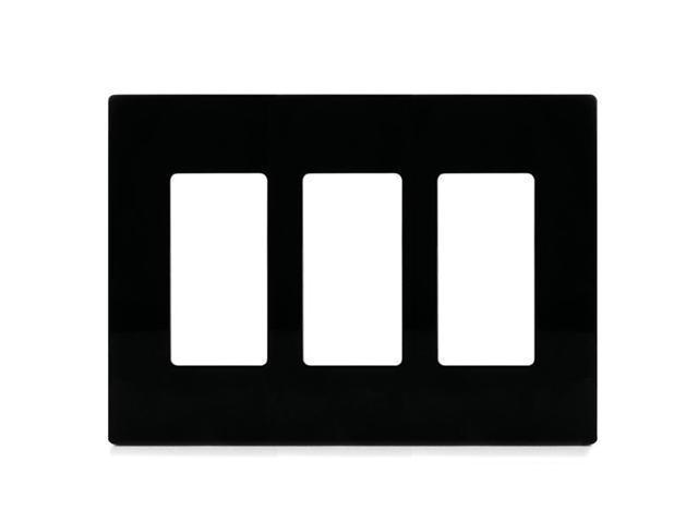 Aspire PJS263BK 3-Gang Wall Plate - Black
