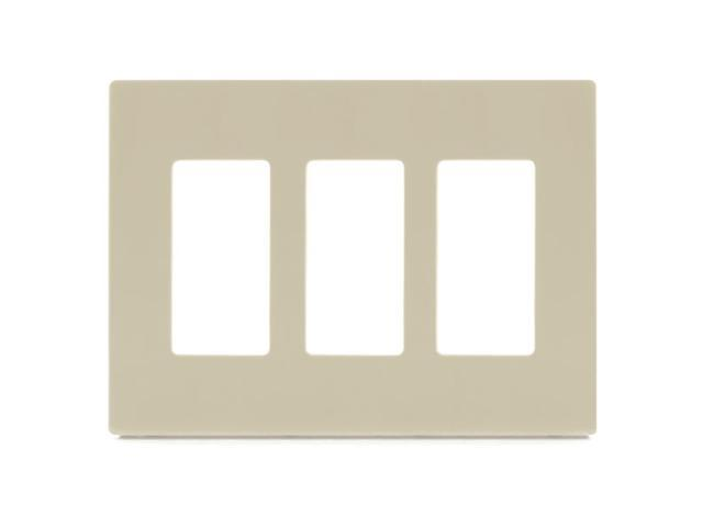 Aspire PJS263V 3-Gang Wall Plate - Ivory